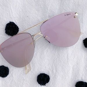 Le Specs pink reflecting sunglasses